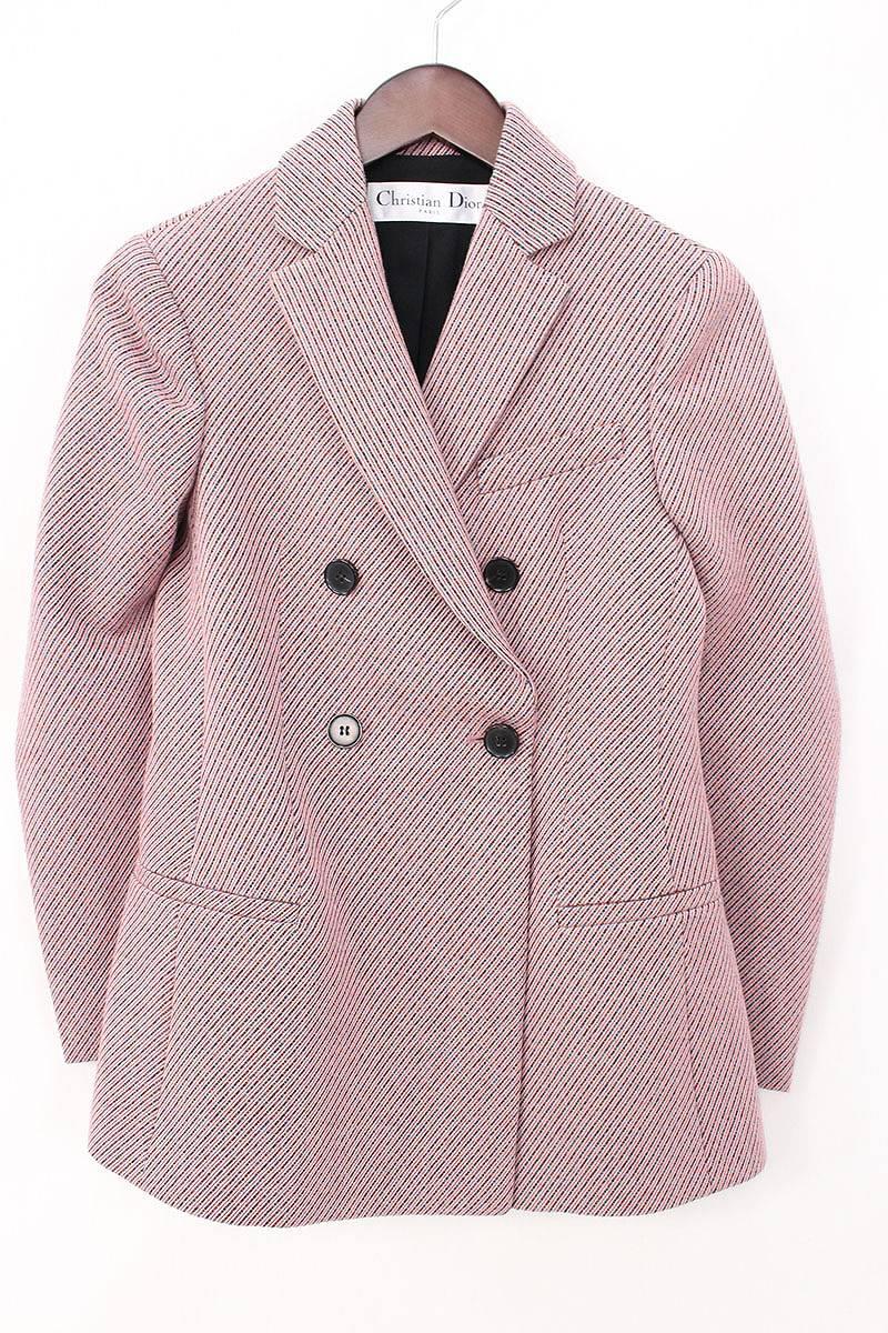 クリスチャンディオール/Christian Dior 【5H21272A1155】ダブルブレストジャケット(34/ピンク調)【BS99】【レディース】【105081】【中古】bb15#rinkan*B