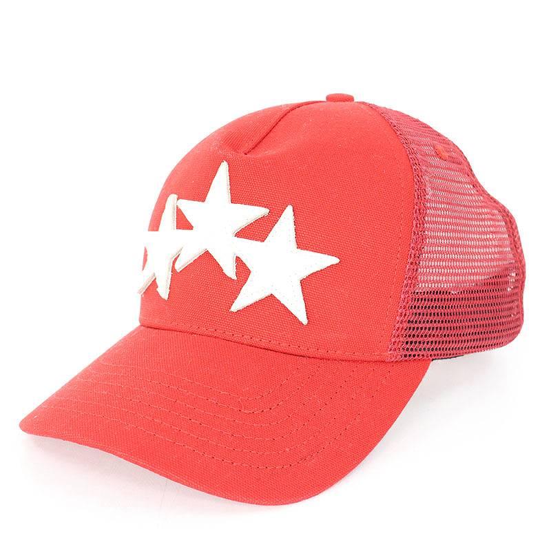 アミリ/AMIRI 【STAR TRUCKER HAT】スターパッチトラッカーメッシュキャップ(ONE SIZE/レッド×ホワイト)【NO05】【小物】【814081】【中古】【P】bb210#rinkan*B