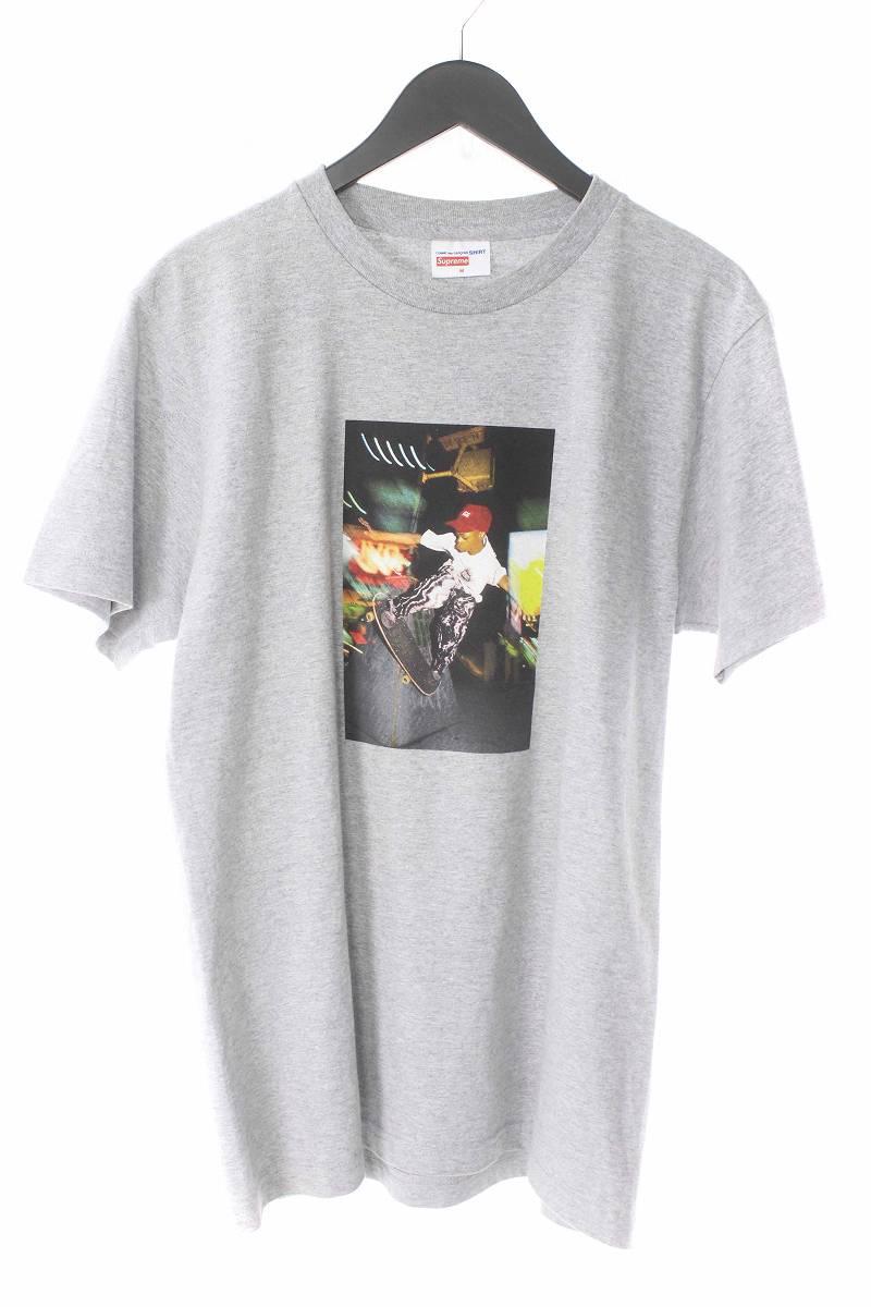 シュプリーム/SUPREME ×コムデギャルソンシャツ/COMME des GARCONS SHIRT 【14SS】【Harold Hunter Tee】ハロルドハンタープリントTシャツ(M/グレー)【SB01】【メンズ】【714081】【中古】【P】[CDG]bb154#rinkan*B