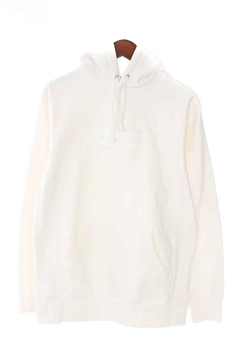 シュプリーム/SUPREME 【14AW】【Tonal Box Logo Pullover】ボックスロゴプルオーバーパーカー(M/ホワイト)【HJ12】【メンズ】【016081】【中古】bb24#rinkan*B