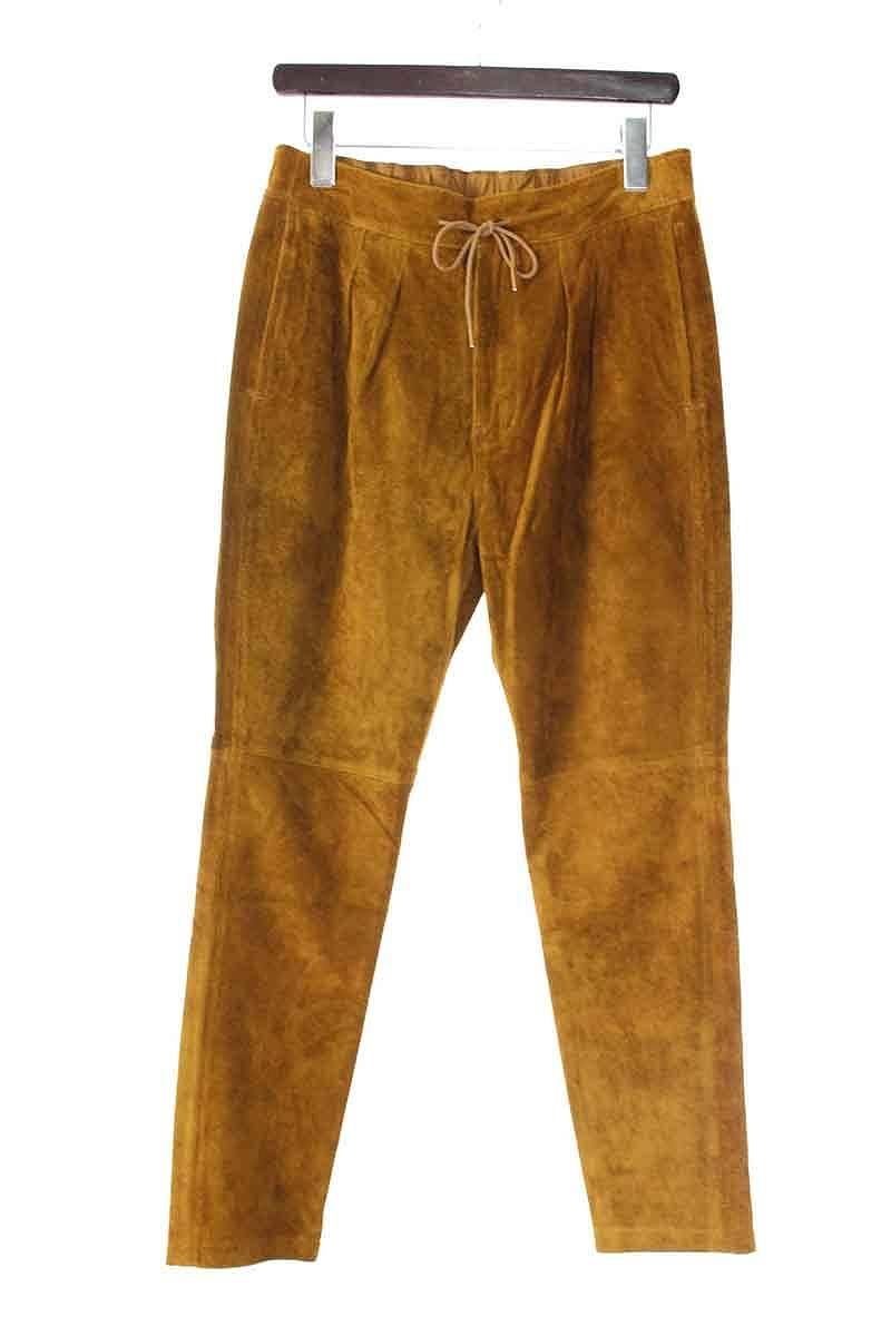 ノンネイティブ/nonnative 【17SS】【NN-P3128 FARMER EASY PANTS RELAX FIT】スウェードレザーイージーパンツ(1/ブラウン)【BS99】【メンズ】【105081】【中古】bb92#rinkan*A