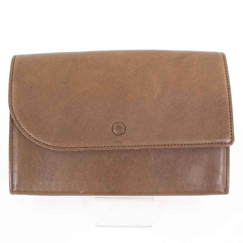 ホーボー/Hobo 【HB-W2503 Horse Leather Trifold Wallet L】ホースレザー2つ折りウォレット財布(L/ブラウン)【BS99】【小物】【105081】【中古】bb92#rinkan*B