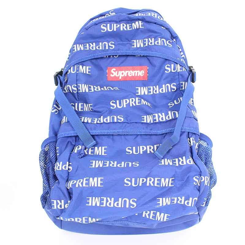 シュプリーム/SUPREME 【16AW】【3M Reflective Repeat Backpack】3Mリフレクトバックパック(ブルー)【SB01】【小物】【524081】【中古】【P】bb154#rinkan*B