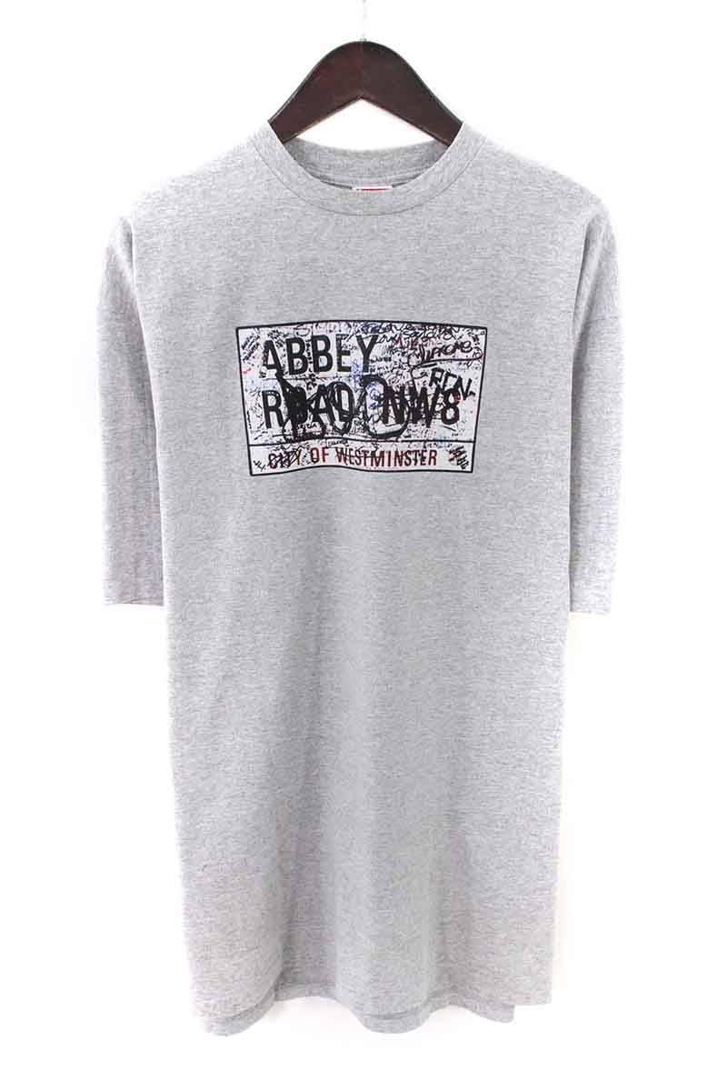 シュプリーム/SUPREME 【02SS】【Abbey Road Tee】アビーロードプリントTシャツ(XL/グレー)【HJ12】【メンズ】【016081】【中古】bb127#rinkan*B
