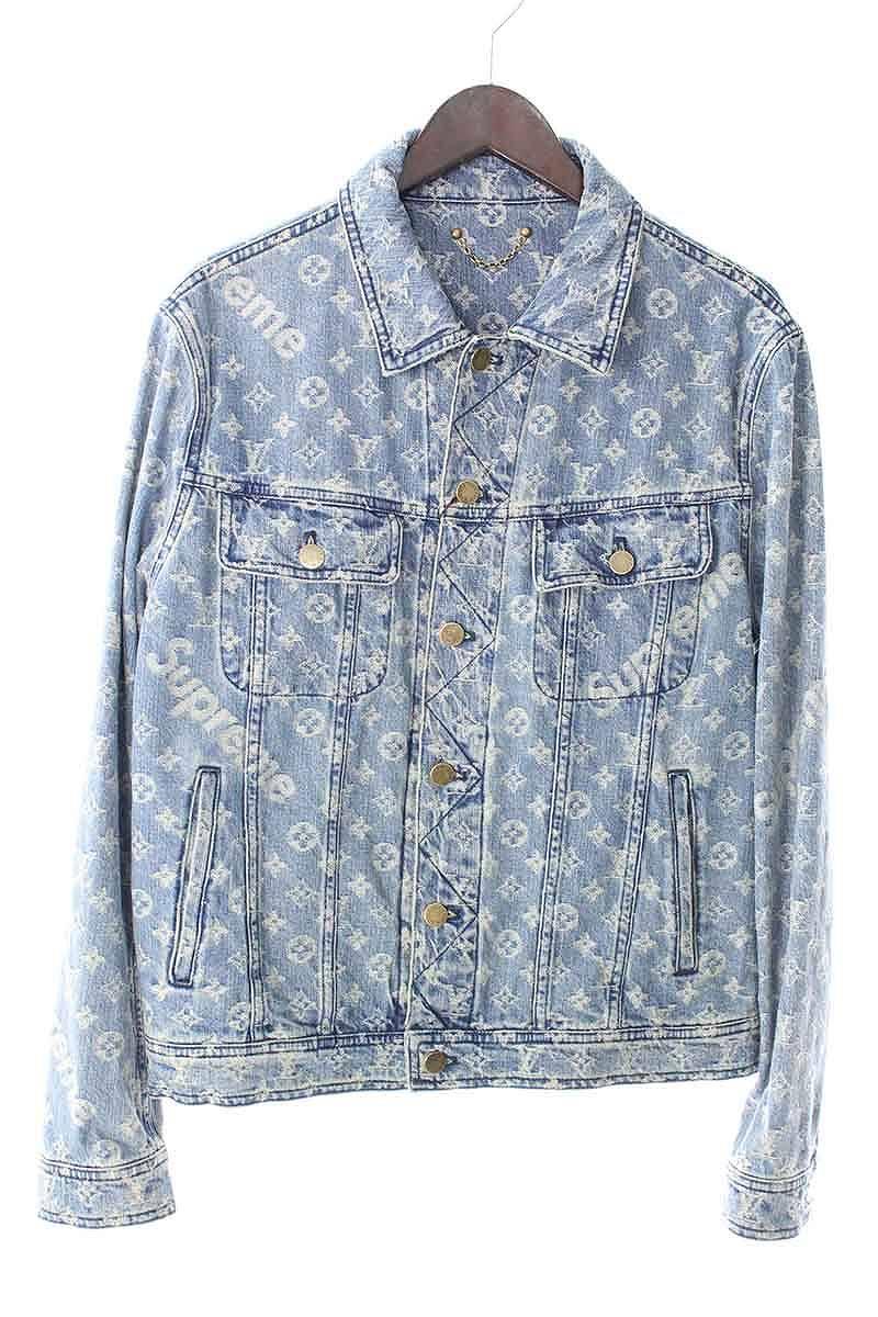 96253962a シュプリーム /SUPREME X Louis Vuitton /LOUISVUITTON jacquard denim jacket (48/  indigo) bb10#rinkan*S
