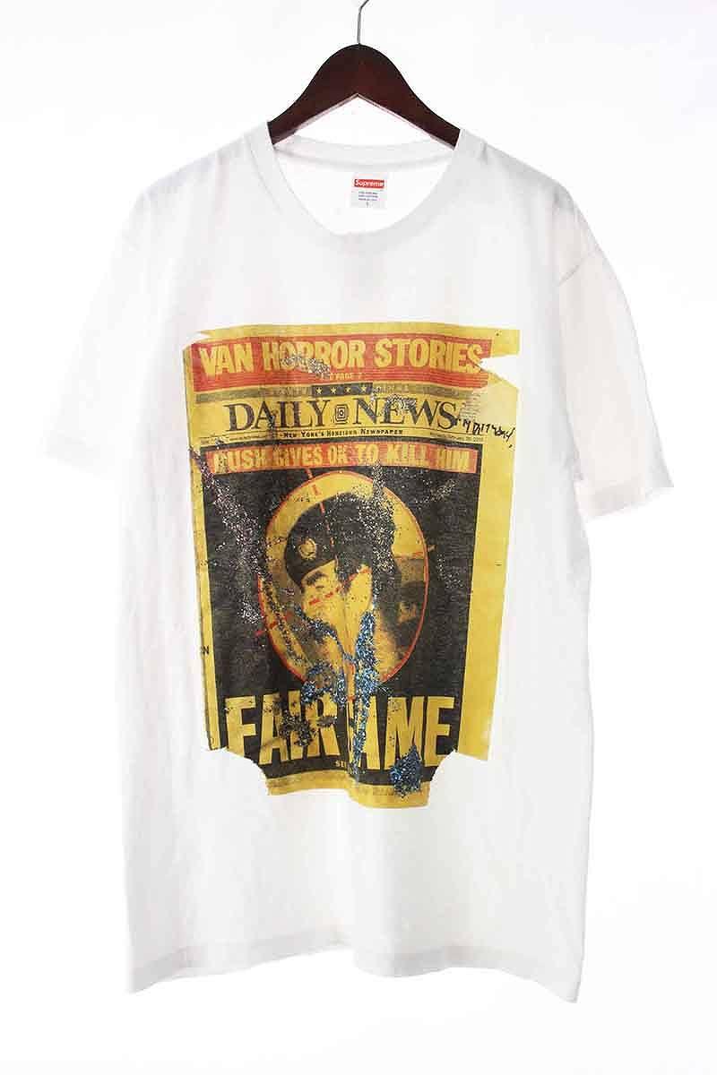 シュプリーム/SUPREME 【16AW】【Dash Snow Tee】ダッシュスノウプリントTシャツ(L/ホワイト)【OM10】【メンズ】【405081】【中古】bb205#rinkan*B
