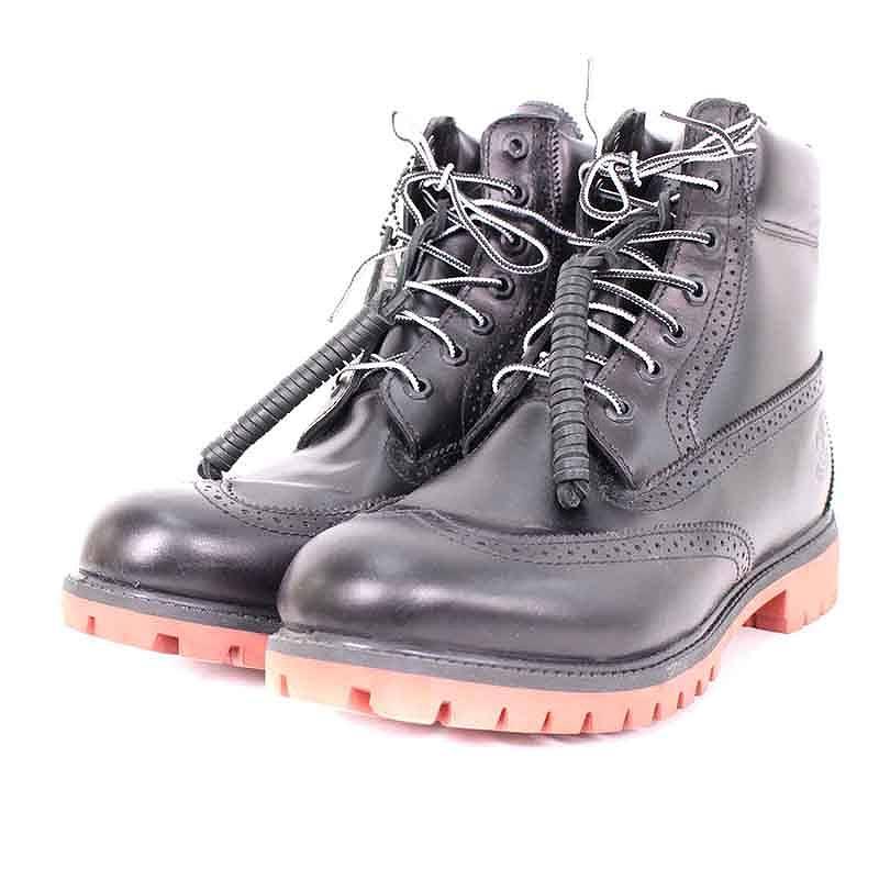 ティンバーランド/Timberland 【KITH 6in boot rust sde】ウィングチップレースアップブーツ(28.5cm/ブラウン×レッド)【BS99】【メンズ】【小物】【015081】【中古】bb15#rinkan*A