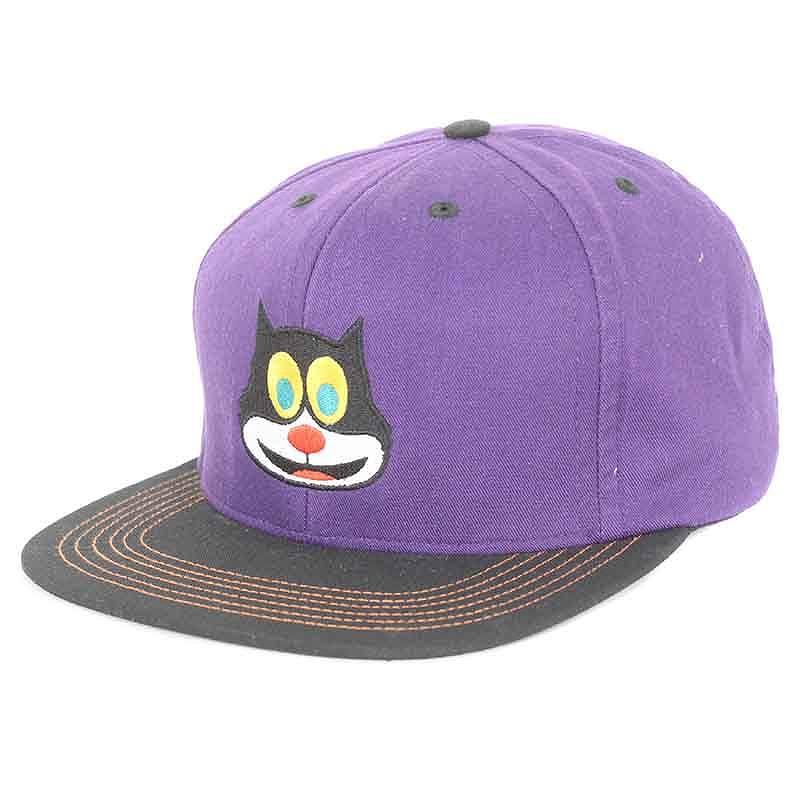 シュプリーム/SUPREME 【15AW】【2-Tone Mad Cat 6-Panel cap】マッドキャップ6パネルキャップ帽子(パープル×ブラック)【HJ12】【小物】【805081】【中古】bb51#rinkan*B