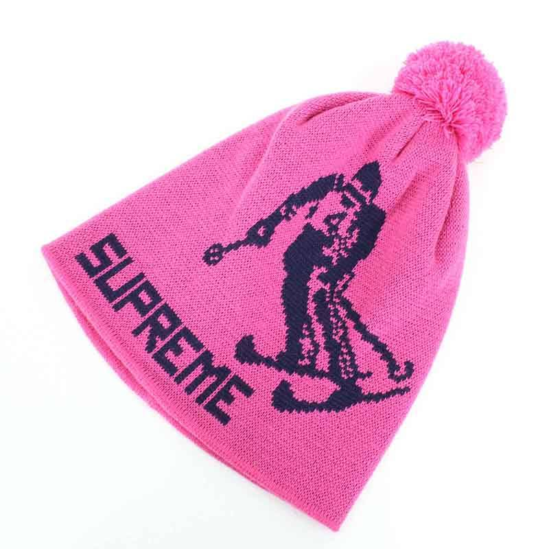シュプリーム/SUPREME 【15AW】【Downhill Beanie】ダウンヒルビーニーキャップ帽子(ピンク)【HJ12】【小物】【016081】【中古】bb51#rinkan*A