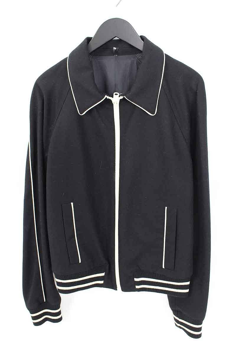ディオールオム/Dior HOMME 【05AW】パイピング切り替えジップアップジャケット(48/ブラック×ホワイト)【BS99】【メンズ】【704002】【中古】bb61#rinkan*A
