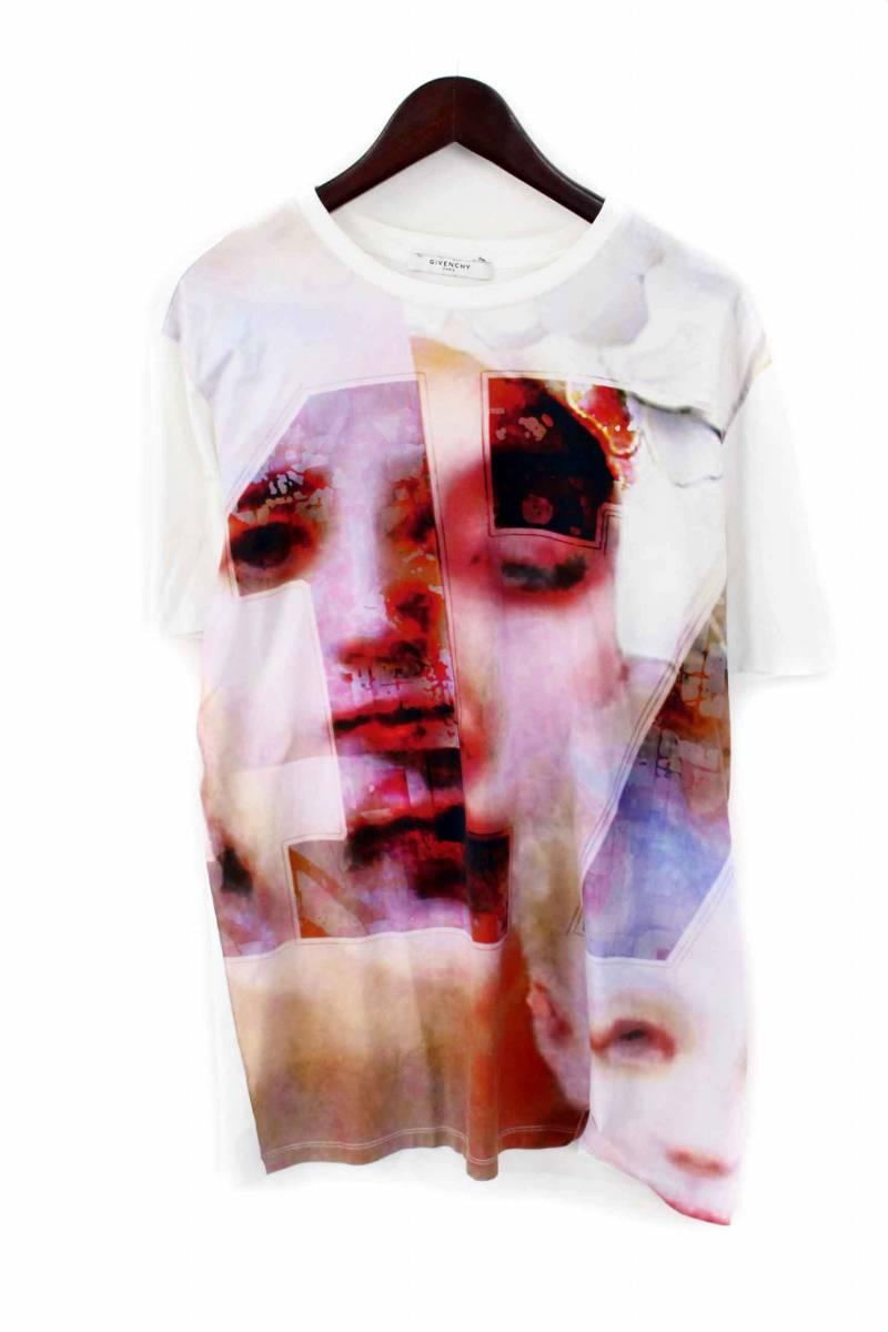 ジバンシィ/GIVENCHY 【13SS】ナンバリングTシャツ(S/ホワイト×レッド調)【SB01】【メンズ】【505081】【中古】bb87#rinkan*B
