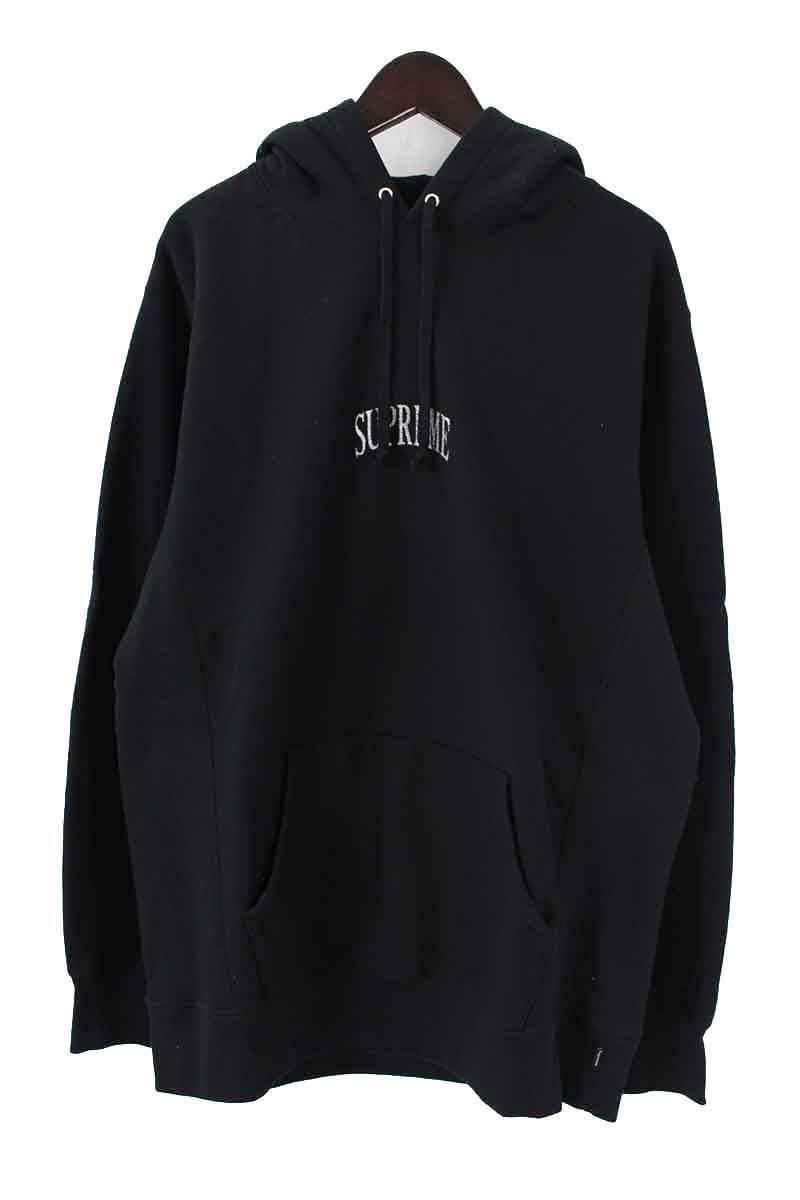 シュプリーム/SUPREME 【17AW】【Glitter Arc Hooded Sweatshirt】グリッターアーチロゴプルオーバーパーカー(XL/ブラック)【HJ12】【メンズ】【016081】【中古】bb154#rinkan*A