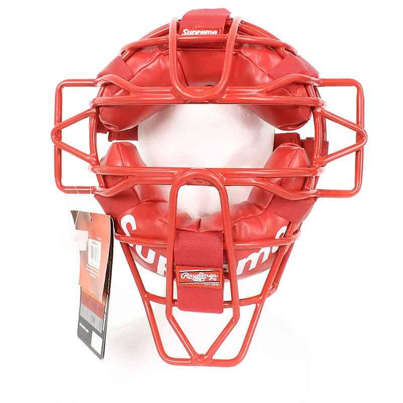 シュプリーム/SUPREME ×Rawlings 【18SS】【Catcher's Mask】ロゴデザインキャッチャーマスク(レッド)【FK04】【小物】【905081】【中古】bb157#rinkan*S