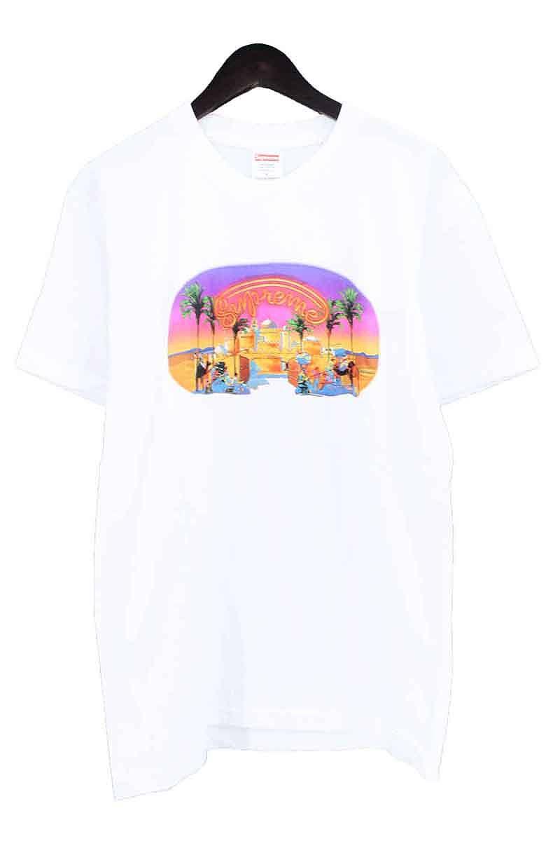 シュプリーム/SUPREME 【17SS】【Mirage Tee】イスタンブールプリントTシャツ(M/ホワイト)【SJ02】【メンズ】【015081】【中古】bb225#rinkan*S