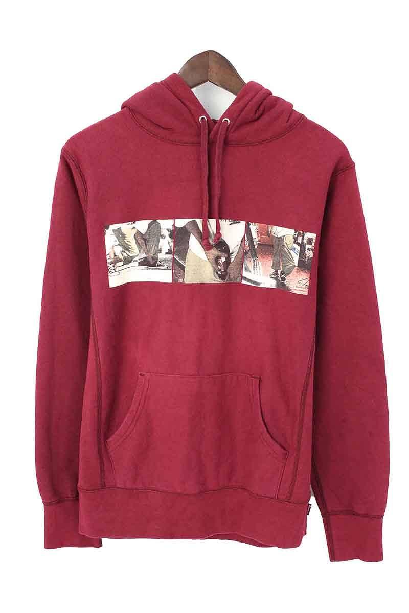 シュプリーム/SUPREME 【15SS】【Kids 40oz Hooded Sweatshirt】フロントプリントプルオーバーパーカー(S/ボルドー)【SB01】【メンズ】【015081】【中古】【P】bb154#rinkan*B