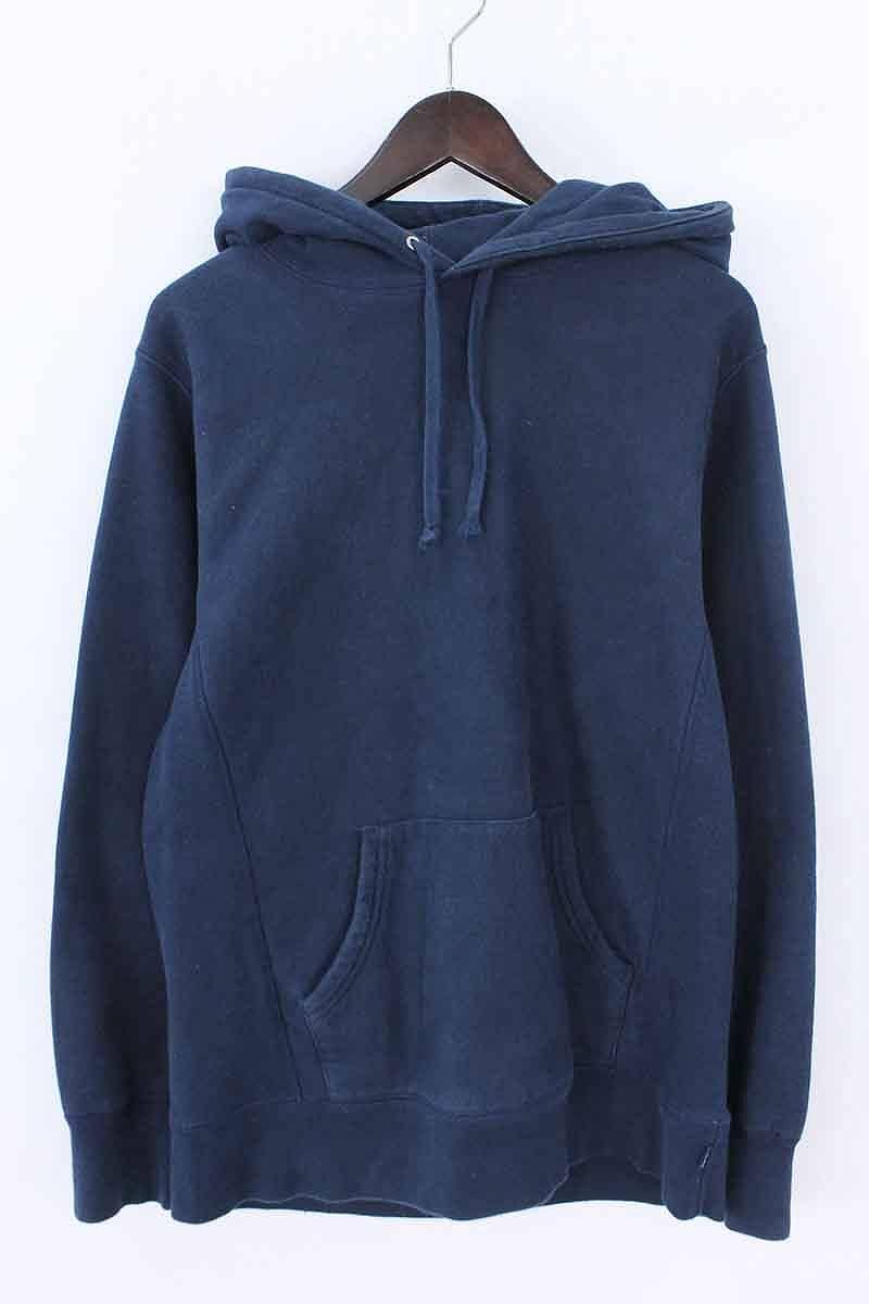 シュプリーム/SUPREME 【15AW】【Classic Script Hooded Sweatshirt】スクリプトロゴプルオーバーパーカー(M/ネイビー)【SB01】【メンズ】【015081】【中古】bb225#rinkan*B