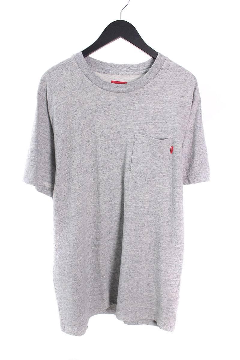 シュプリーム/SUPREME 【Pocket Tee】チェストポケットTシャツ(XL/グレー)【SB01】【メンズ】【716081】【中古】bb13#rinkan*A
