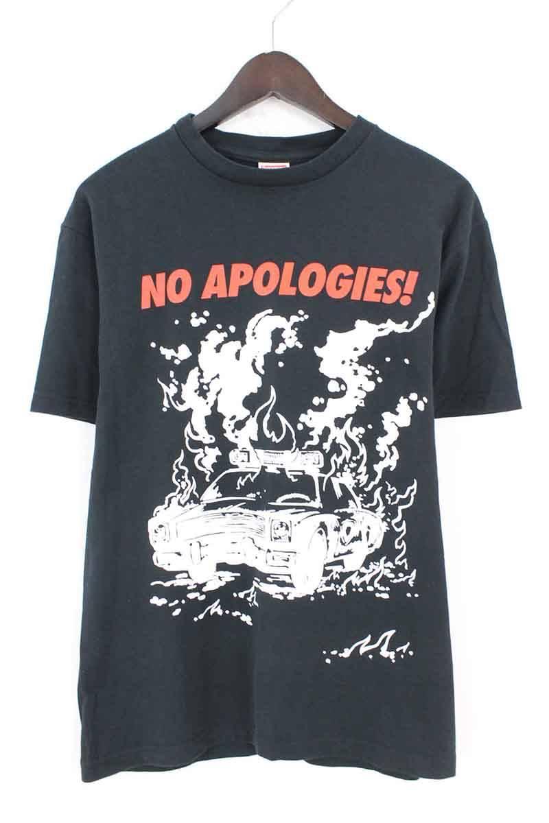 シュプリーム/SUPREME 【09SS】【No Apologies Tee】カープリントTシャツ(M/ブラック)【HJ12】【メンズ】【016081】【中古】bb127#rinkan*A