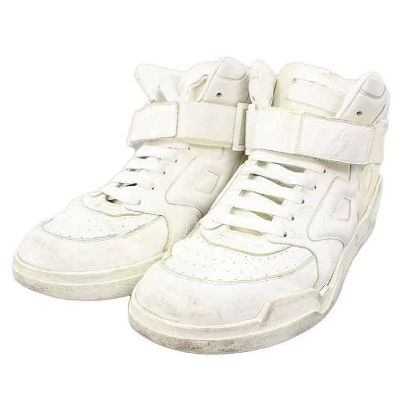 マルセロバーロン/MARCELO BURLON 【Block High Top Sneaker】ブロックパネルハイカットスニーカー(44/ホワイト)【BS99】【メンズ】【小物】【025081】【中古】bb33#rinkan*C