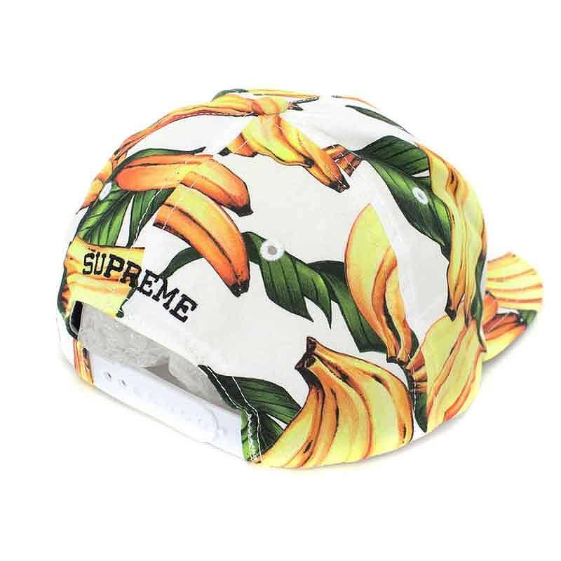 シュプリーム  SUPREME banana 5 panel cap (white X yellow) bb182 rinkan A 96776e43c57