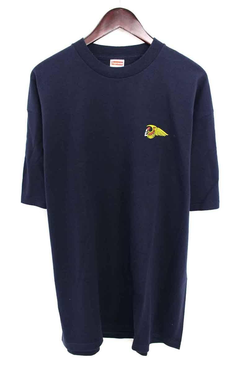 シュプリーム/SUPREME 【Nomads Tee】2002スカルプリントTシャツ(XL/ネイビー)【HJ12】【メンズ】【016081】【中古】【P】bb13#rinkan*A