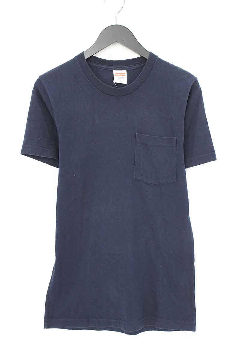 シュプリーム/SUPREME ×アンタイヒーロー/ANTIHERO 【14SS】【Pocket Logo Tee】バックロゴプリントTシャツ(S/ネイビー×レッド×ホワイト)【SB01】【メンズ】【615081】【中古】bb81#rinkan*B