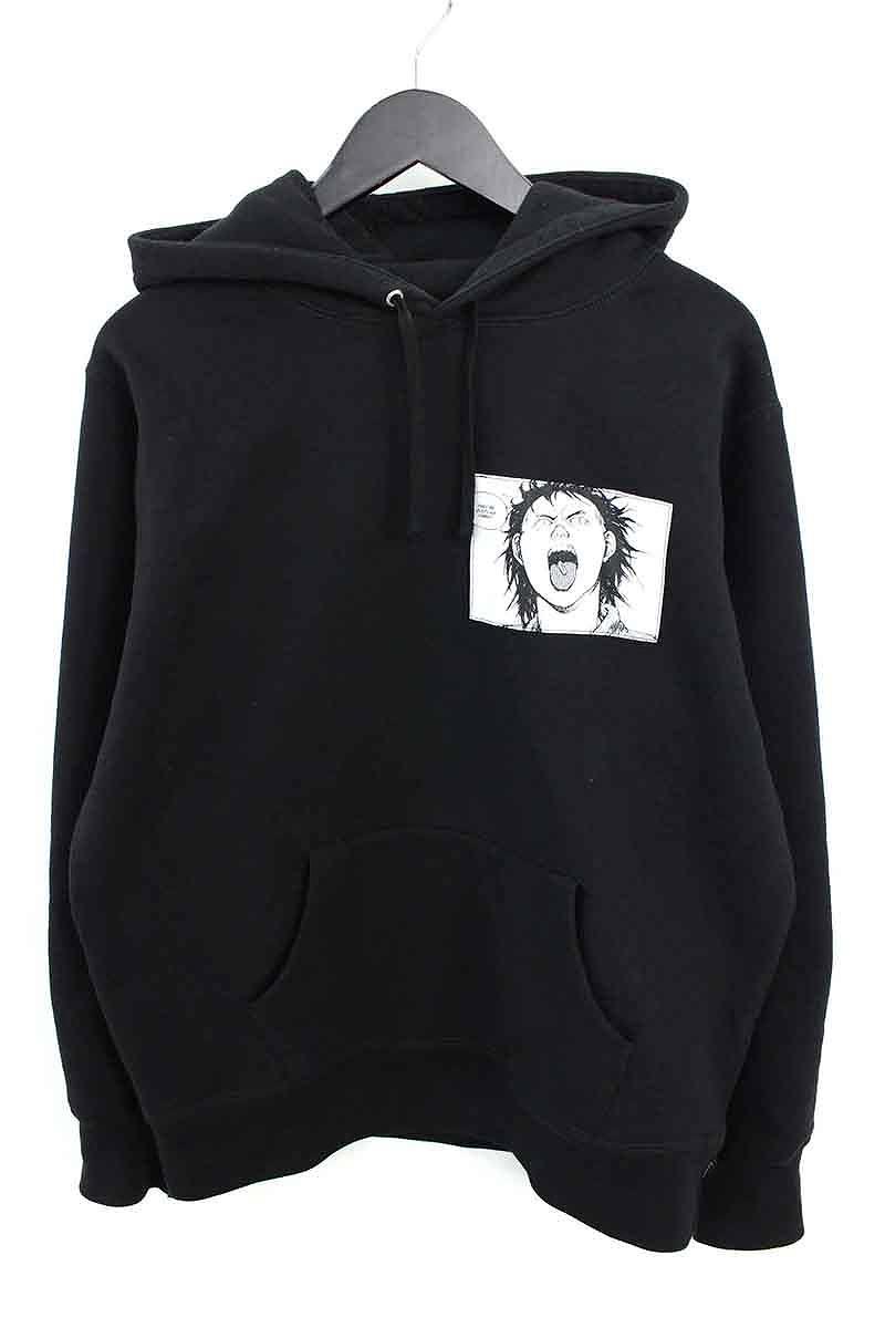 シュプリーム/SUPREME ×AKIRA 【17AW】【Patches Hooded Sweatshirt】パッチデザインプルオーバーパーカー(M/ブラック)【OS06】【メンズ】【615081】【中古】bb10#rinkan*B