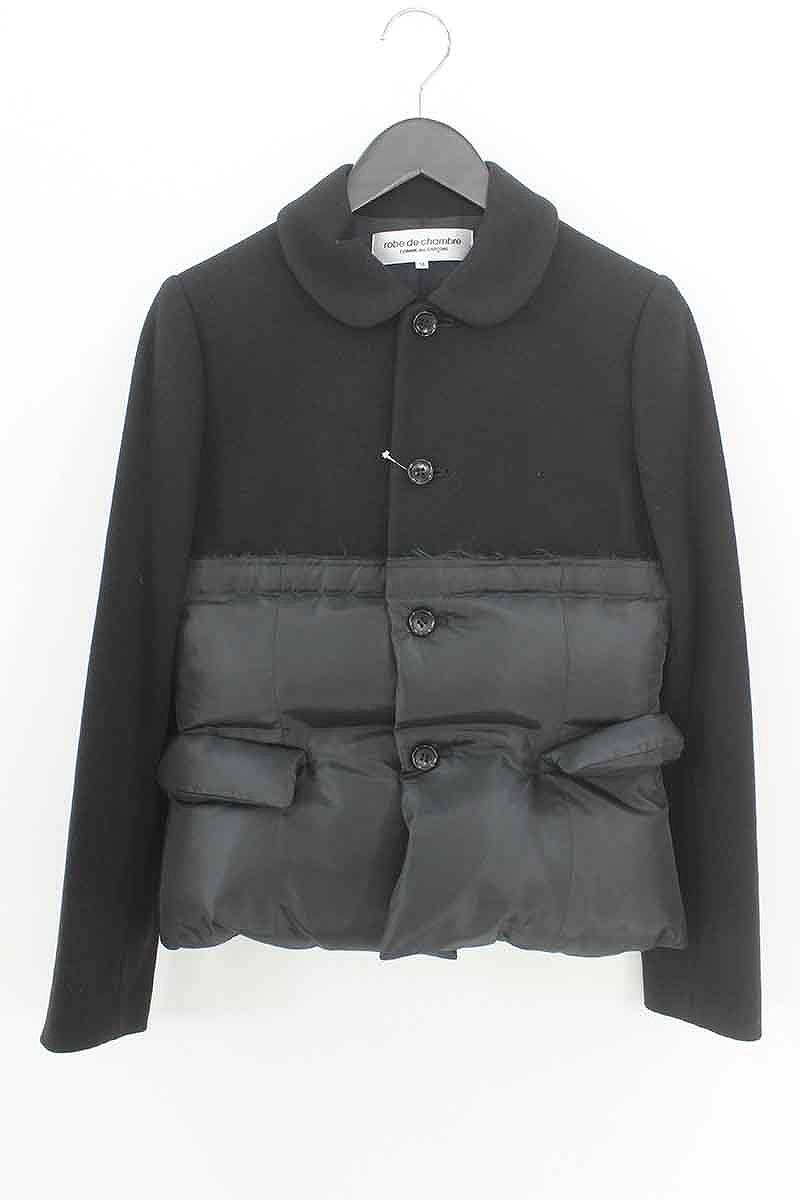 ローブドシャンブルコムデギャルソン/robe de chambre COMME des GARCONS 【RN-J006】AD2004ドッキングダウンジャケット(M/ブラック)【BS99】【レディース】【106081】【中古】bb51#rinkan*A