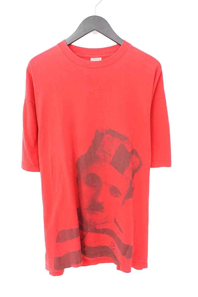 シュプリーム/SUPREME 【2003】【Chaplin Tee】チャップリンプリントTシャツ(XL/レッド)【OM10】【メンズ】【715081】【中古】bb131#rinkan*B