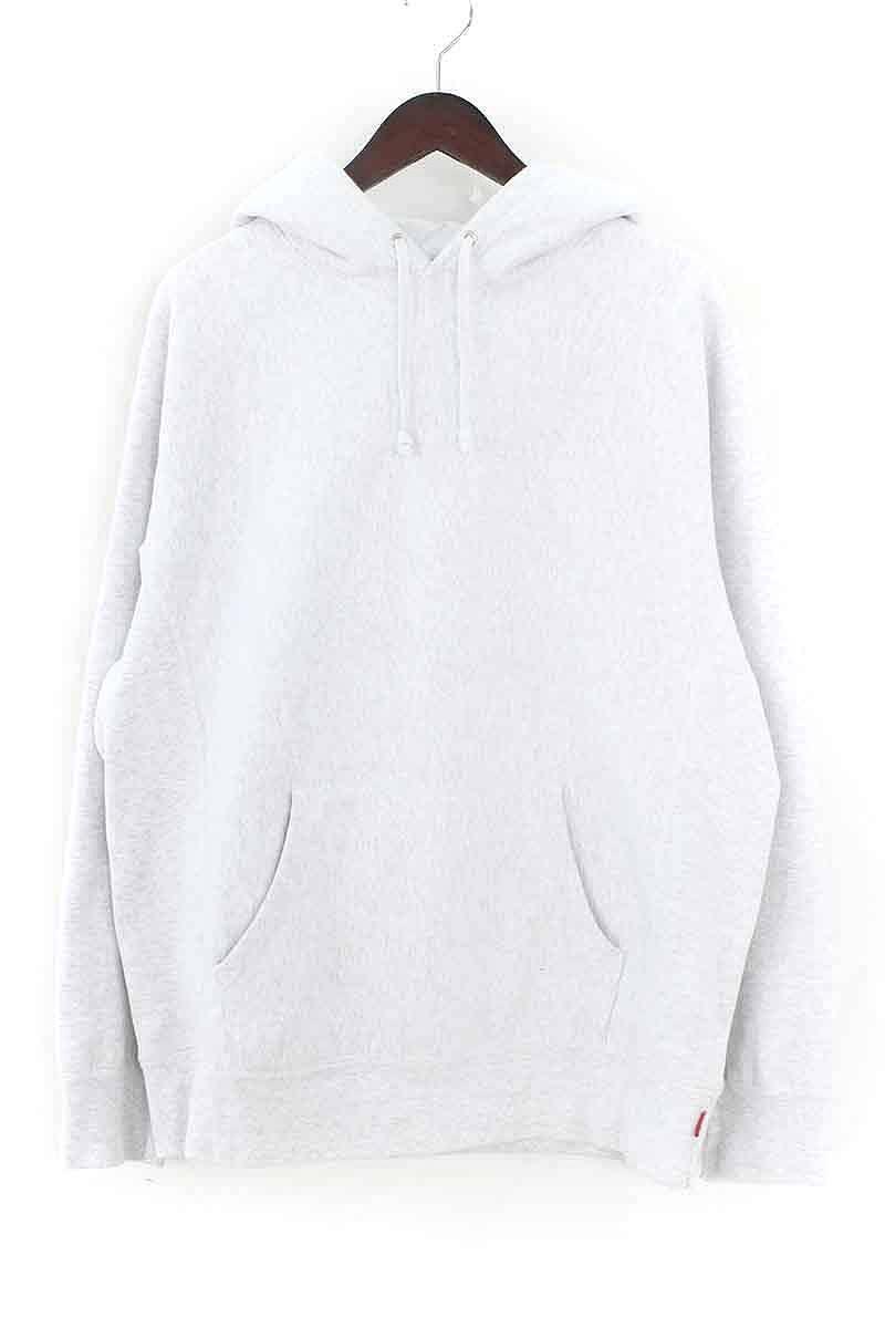 シュプリーム/SUPREME 【17AW】【Embossed Logo Hooded Sweatshirt】フードロゴプルオーバーパーカー(L/ライトグレー)【OM10】【メンズ】【715081】【中古】bb205#rinkan*B