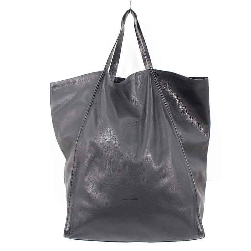 ディオールオム/Dior HOMME カーフスキントートバッグ(ブラック)【SB01】【小物】【106081】【中古】bb14#rinkan*B