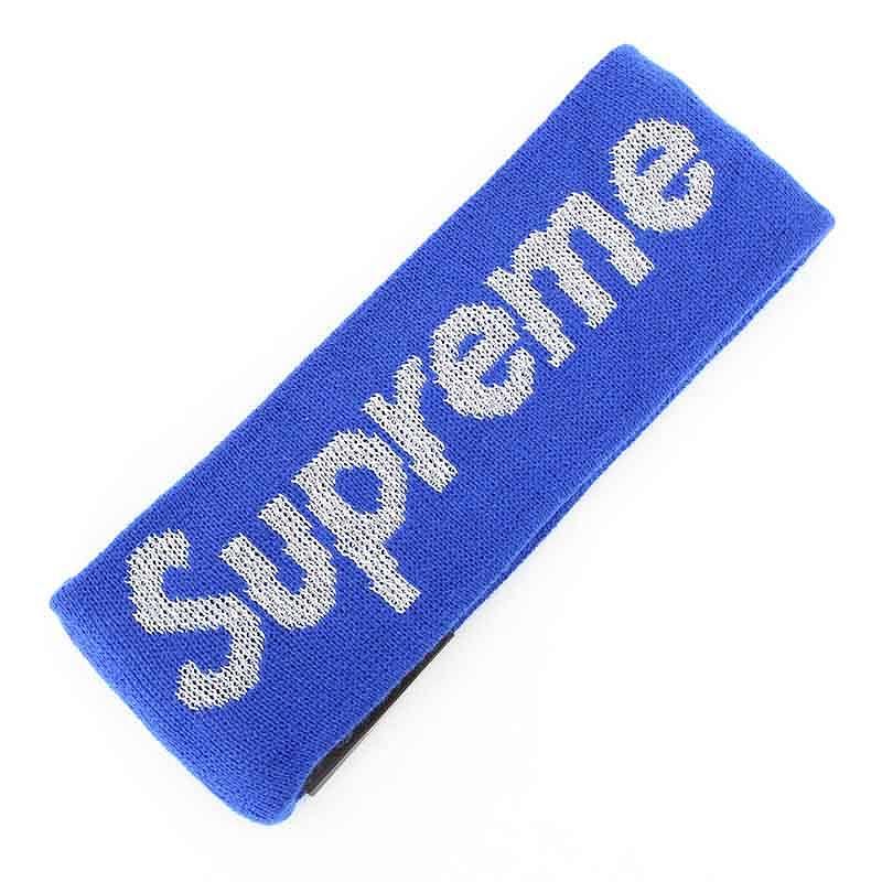 シュプリーム/SUPREME ×ニューエラ/NewEra 【16AW】【New Era Reflective Logo Headband】ロゴニットヘアバンド(ブルー)【SB01】【小物】【715081】【中古】【P】bb63#rinkan*S