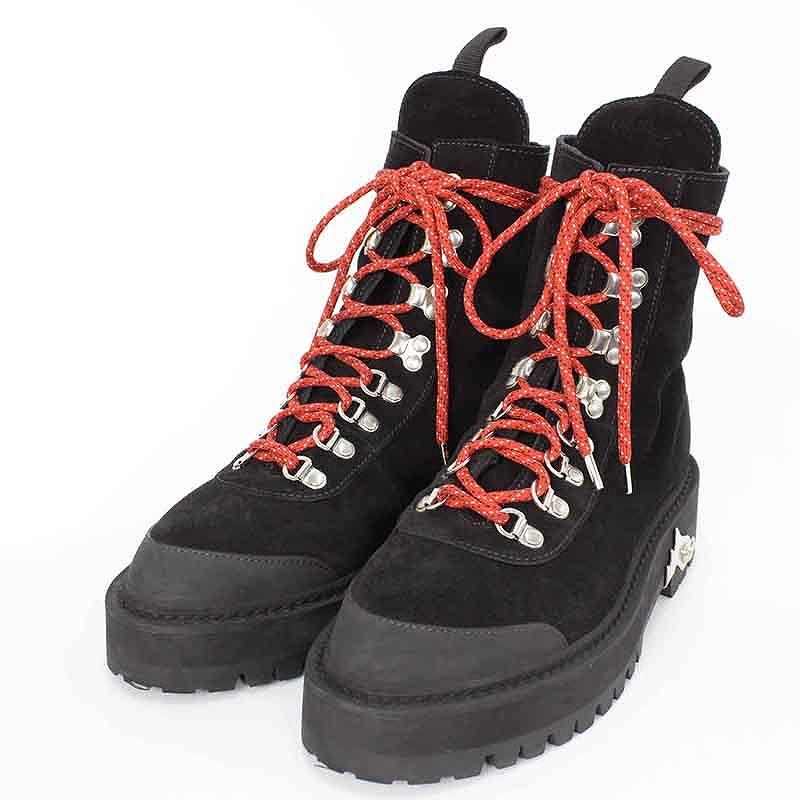 オフホワイト/OFF-WHITE 【HIKING BOOTS】スエードハイキングブーツ(39/ブラック)【FK04】【メンズ】【レディース】【小物】【715081】【中古】bb14#rinkan*A