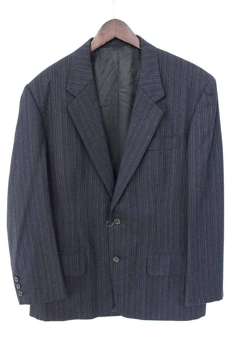 ワイズフォーメン/Ysformen 【ME-X01-113】ウールストライプ2Bジャケット(S/ダークネイビー)【SB01】【メンズ】【715081】【中古】bb51#rinkan*B
