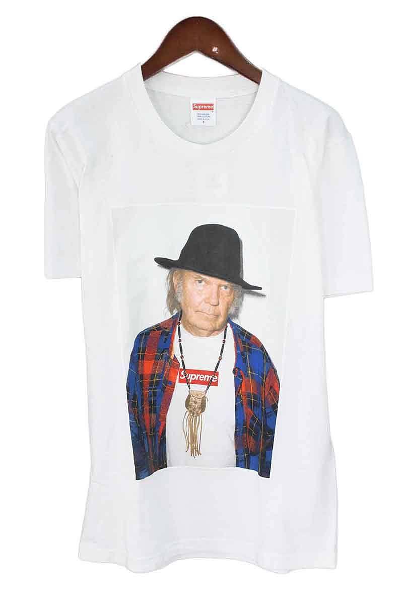シュプリーム/SUPREME 【15SS】【Neil Young Tee】ニールヤングフォトプリントTシャツ(S/ホワイト)【FK04】【メンズ】【125081】【中古】bb202#rinkan*B