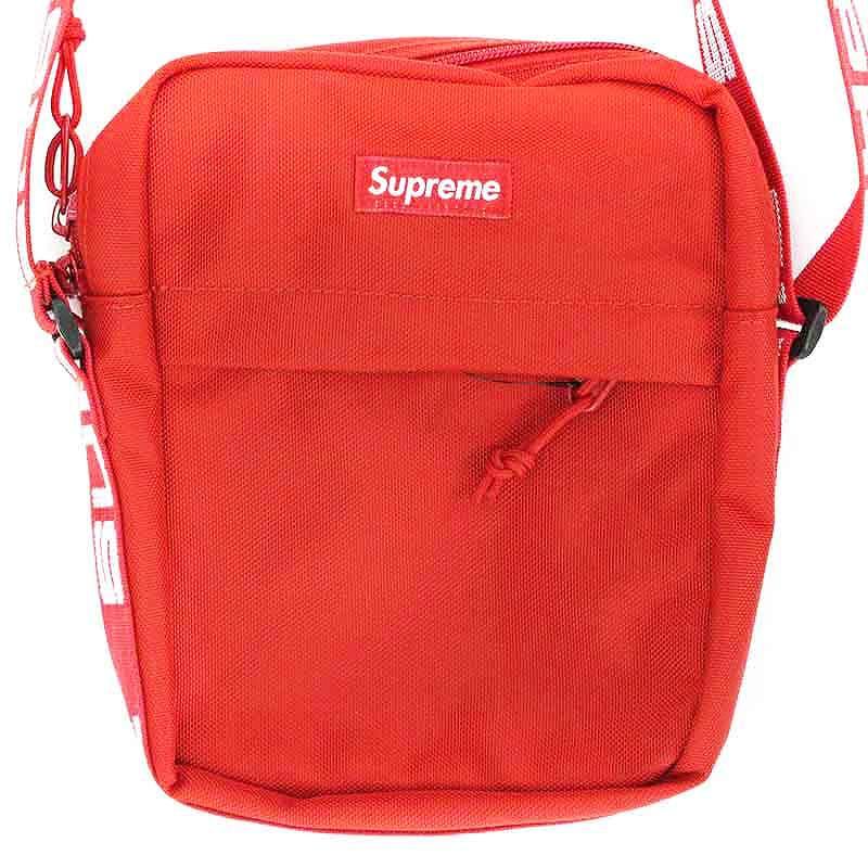 シュプリーム/SUPREME 【18SS】【Shoulder Bag】ボックスロゴナイロンショルダーバッグ(レッド)【FK04】【小物】【225081】【中古】bb131#rinkan*S