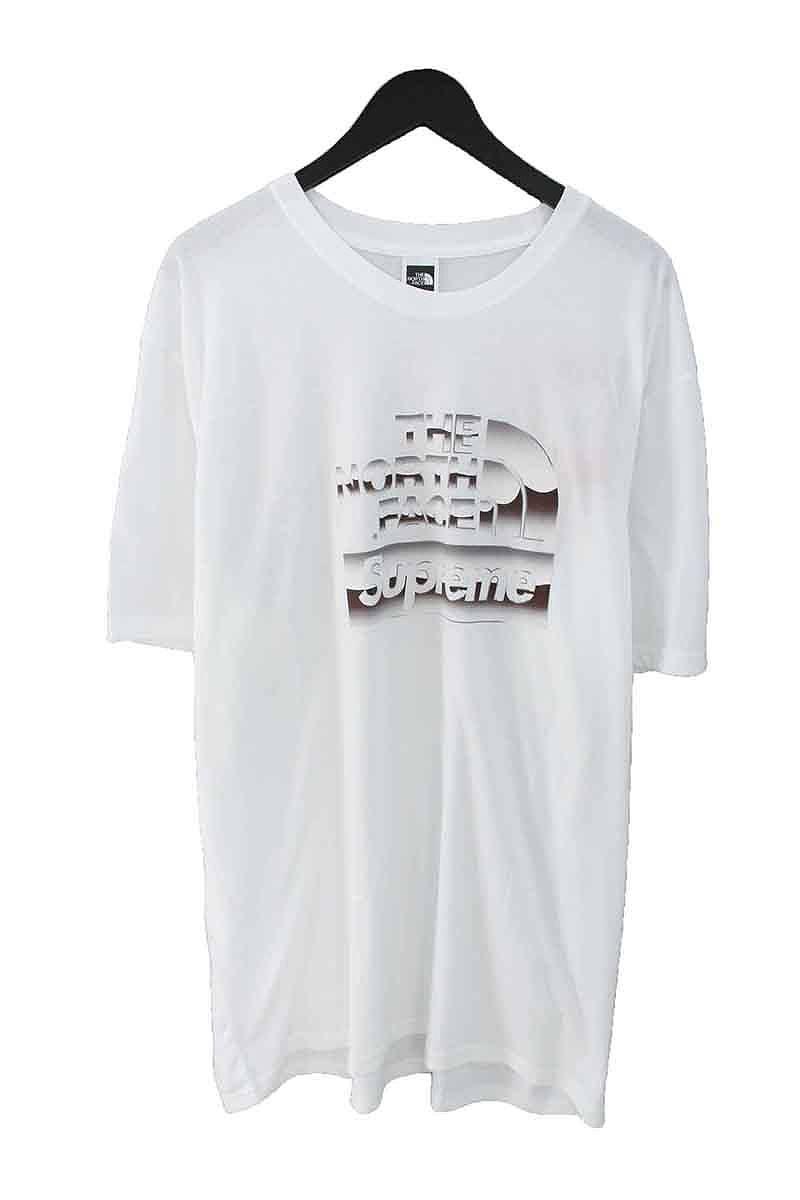 シュプリーム/SUPREME ×ノースフェイス/THE NORTH FACE 【18SS】【Metallic Logo T-Shirt】メタリックロゴTシャツ(XL/ホワイト)【OM10】【メンズ】【225081】【中古】bb152#rinkan*S