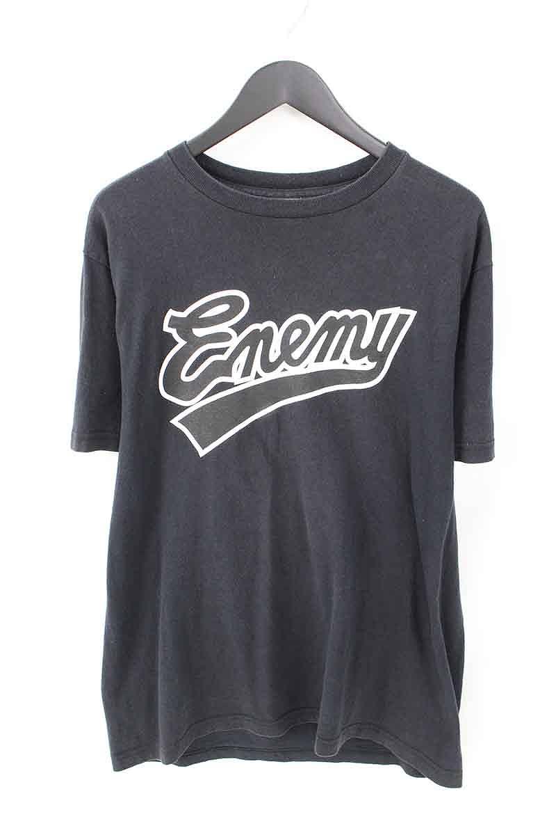 シュプリーム/SUPREME ×パブリックエネミー 【07SS】【Enemy Tee】×PUBLIC ENEMYターゲットロゴTシャツ(L/ブラック)【SB01】【メンズ】【125081】【中古】bb78#rinkan*B