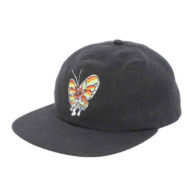 シュプリーム/SUPREME 【16SS】【Gonz Butterfly Cap】バタフライ刺繍キャップ(ブラック)【SB01】【小物】【125081】【中古】【P】bb212#rinkan*C