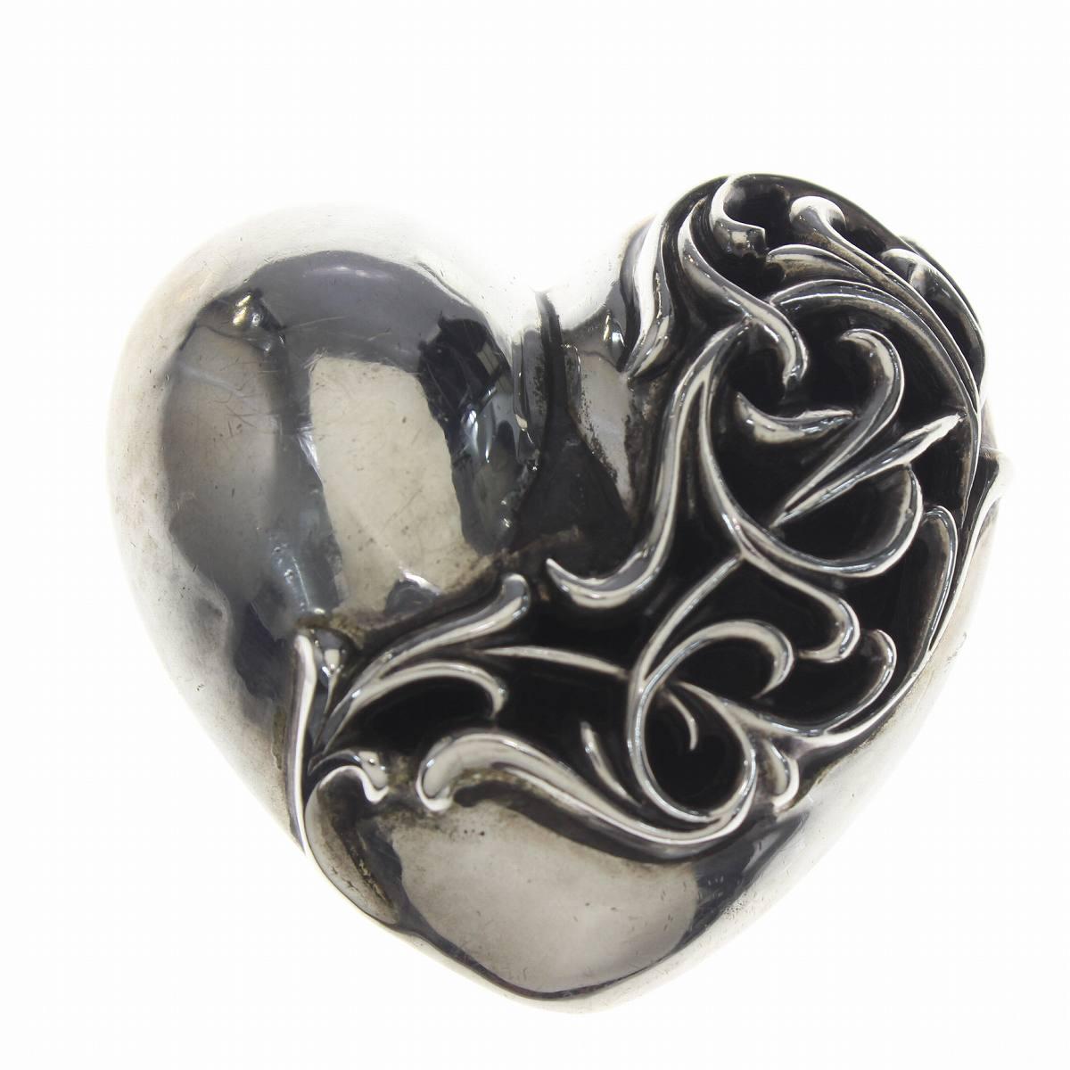クロムハーツ/Chrome Hearts 【BUCKL HEART1.5/ラージハート】ベルトバックル(シルバー/143.65g)【SS07】【小物】【125081】【中古】bb169#rinkan*B