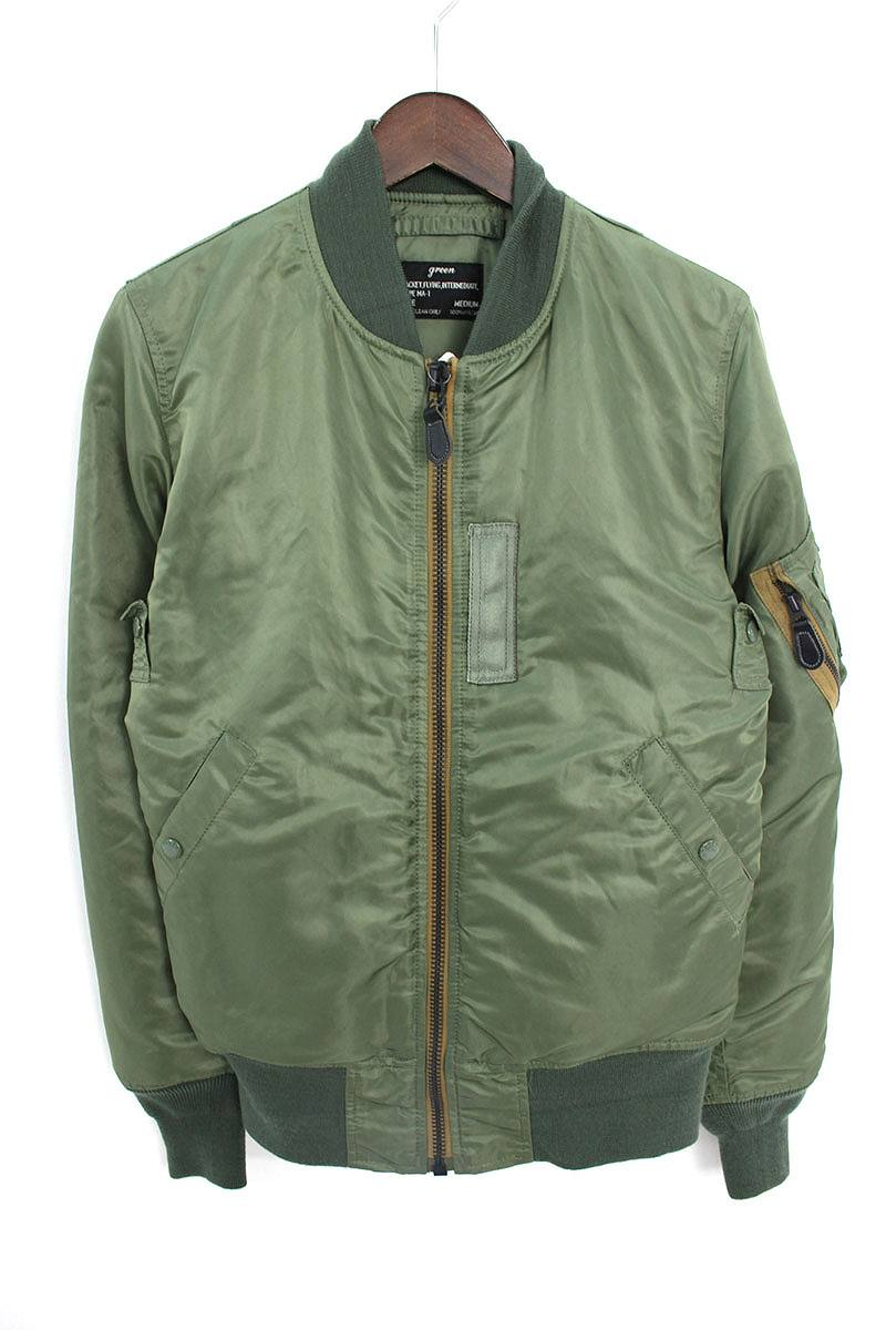 グリーン/green MA-1フライトジャケット(M/グリーン)【BS99】【メンズ】【レディース】【925081】【中古】bb61#rinkan*B