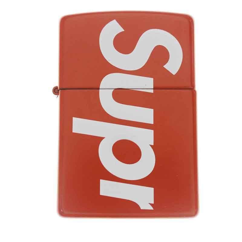 シュプリーム/SUPREME 【18SS】【Logo Zippo】ロゴデザインジッポ(レッド×ホワイト)【HJ12】【小物】【106081】【中古】bb182#rinkan*B
