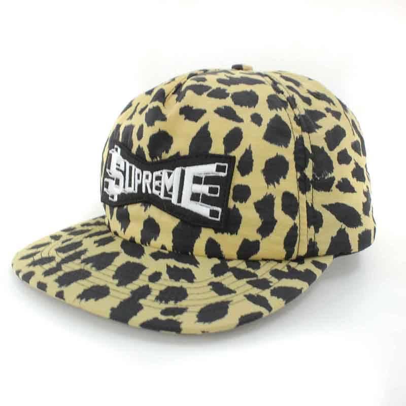 シュプリーム/SUPREME 【17SS】【Skew Nylon 5Panel Cap】スキューナイロン5パネル帽子(ベージュ×ブラック)【SB01】【小物】【106081】【中古】bb219#rinkan*B