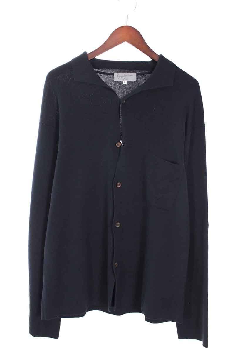 ヨウジヤマモトプールオム/YOHJI YAMAMOTO POUR HOMME コットンニットシャツ(3/ブラック調)【SB01】【メンズ】【725081】【中古】bb30#rinkan*B