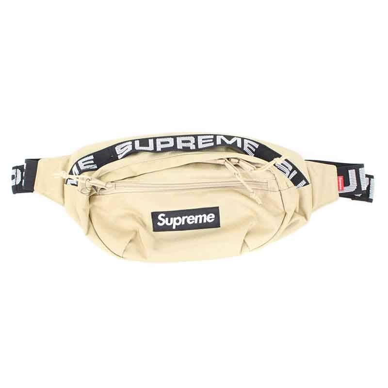 シュプリーム/SUPREME 【18SS】【Waist bag】ボックスロゴナイロンウエストバッグ(ベージュ)【FK04】【小物】【106081】【中古】bb131#rinkan*S