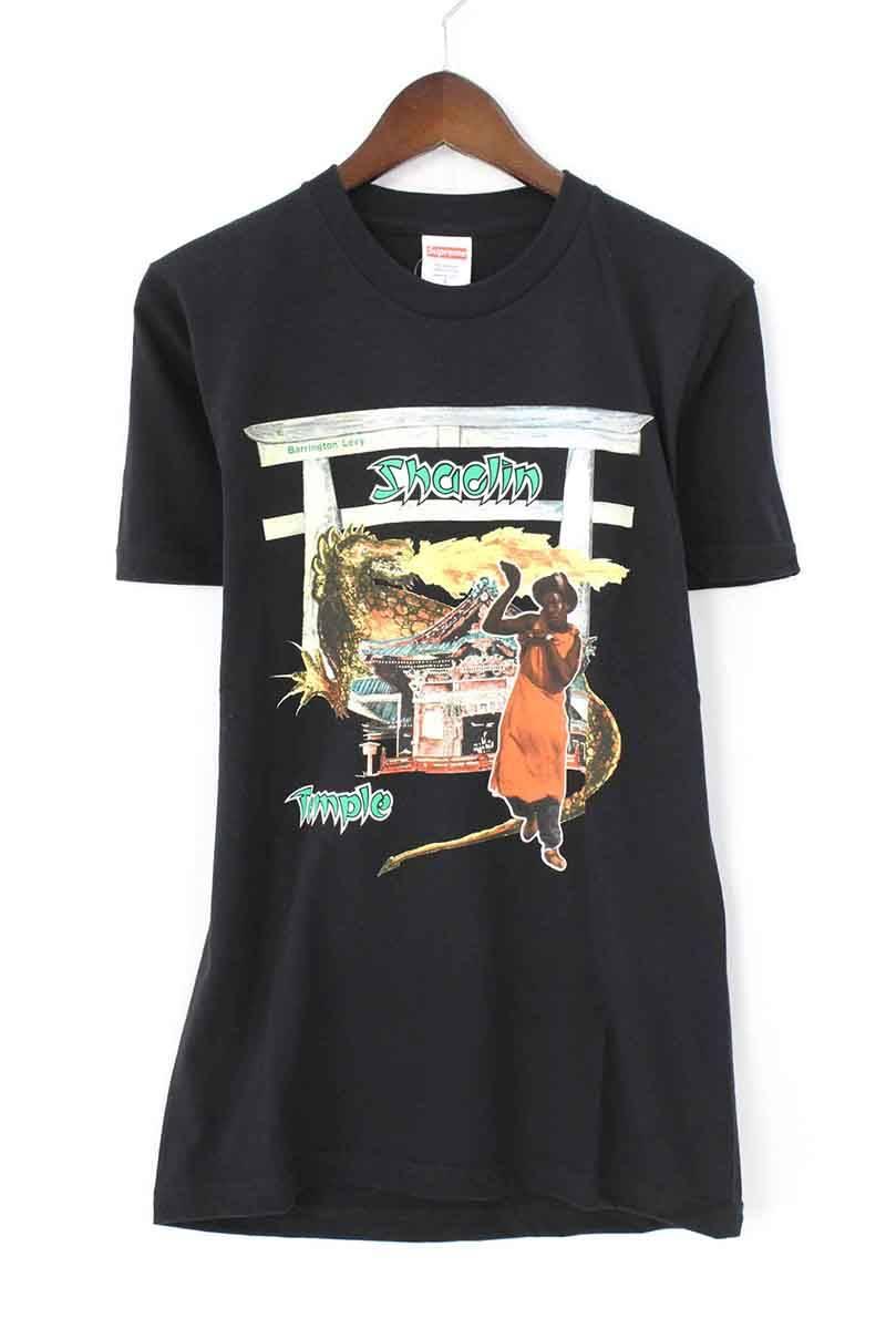 シュプリーム/SUPREME 【16SS】【 Shaolin Temple Tee】フロントプリントTシャツ(S/ブラック)【OM10】【メンズ】【106081】【中古】bb143#rinkan*B