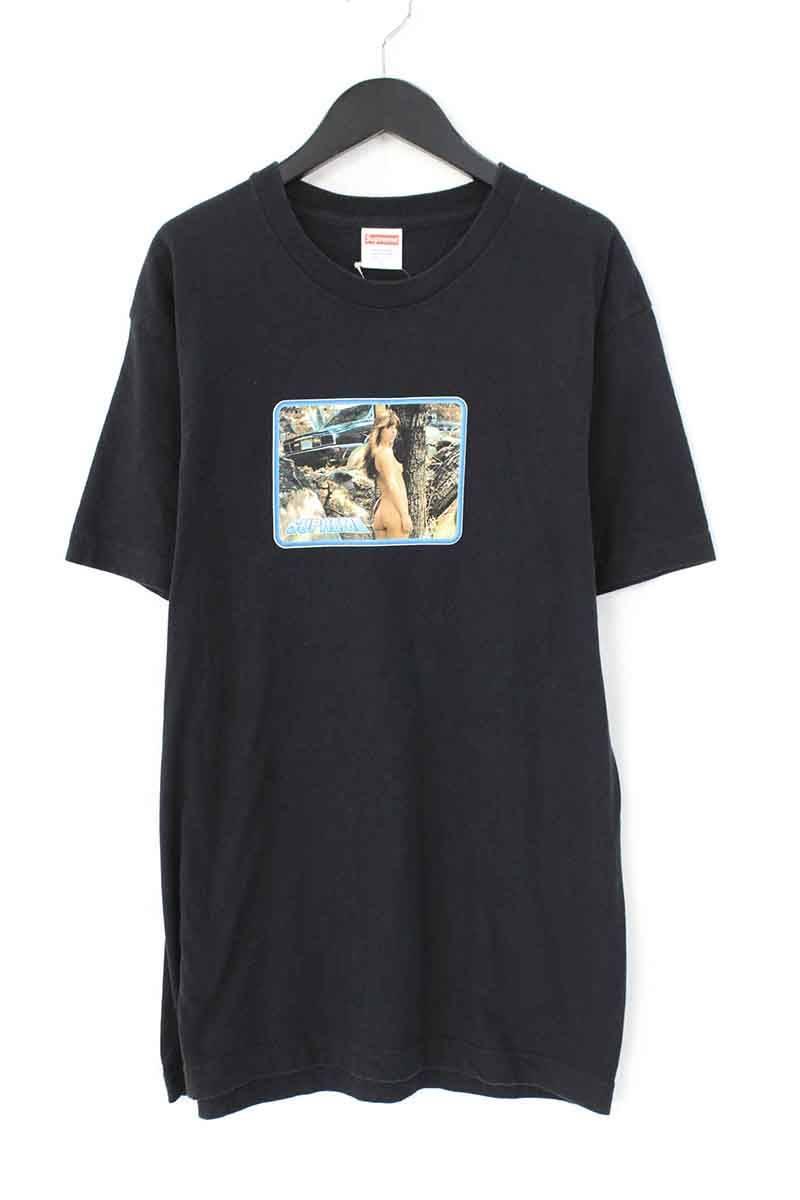 シュプリーム/SUPREME 【17SS】【Larry Clark Girl Tee】ガールフォトプリントTシャツ(L/ブラック)【OM10】【メンズ】【106081】【中古】bb143#rinkan*B