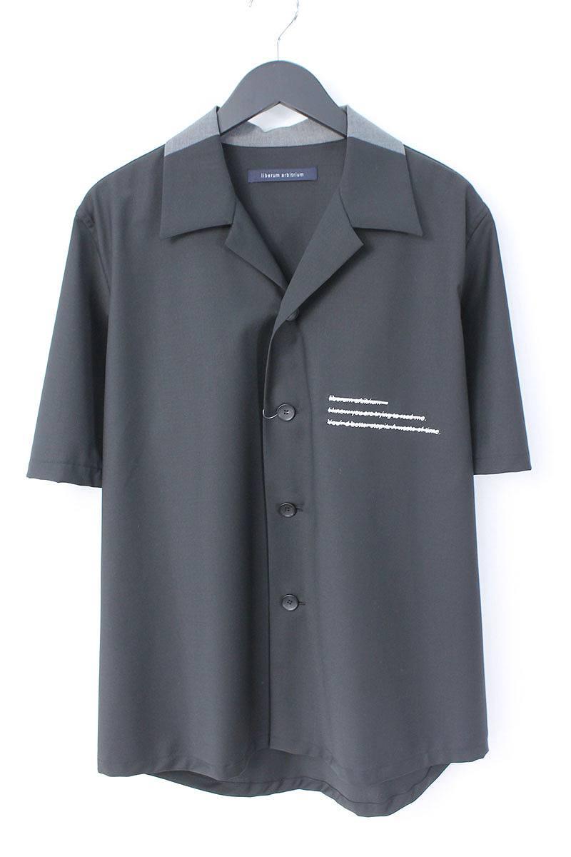リベルムアルビトリウム/liberum arbitrium 【18SS】【UNWRITTEN】オープンカラー半袖シャツ(2/ブラック)【BS99】【メンズ】【606081】【中古】bb205#rinkan*B