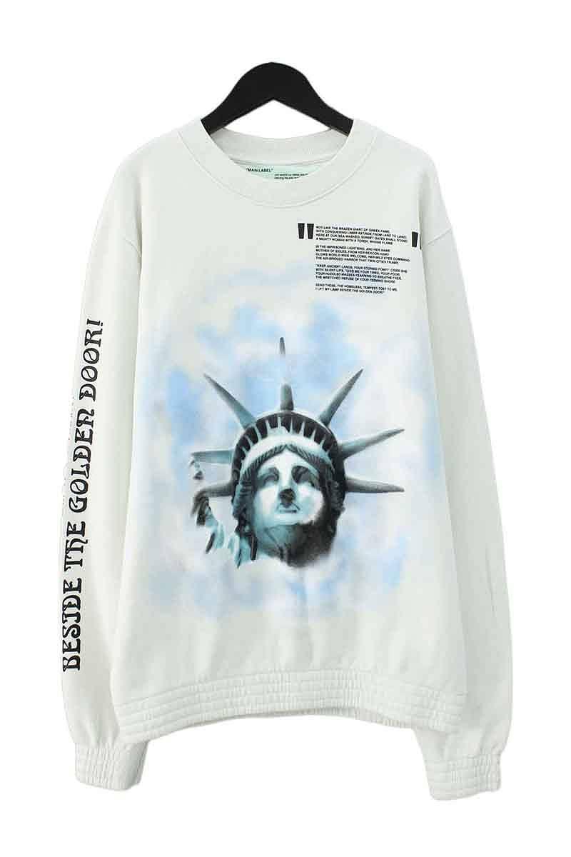オフホワイト/OFF-WHITE 【18AW】【LIBERTY CREWNECK】リバティープリントスウェットカットソー(L/オフホワイト)【HJ12】【メンズ】【416081】【新古品】bb20#rinkan*N