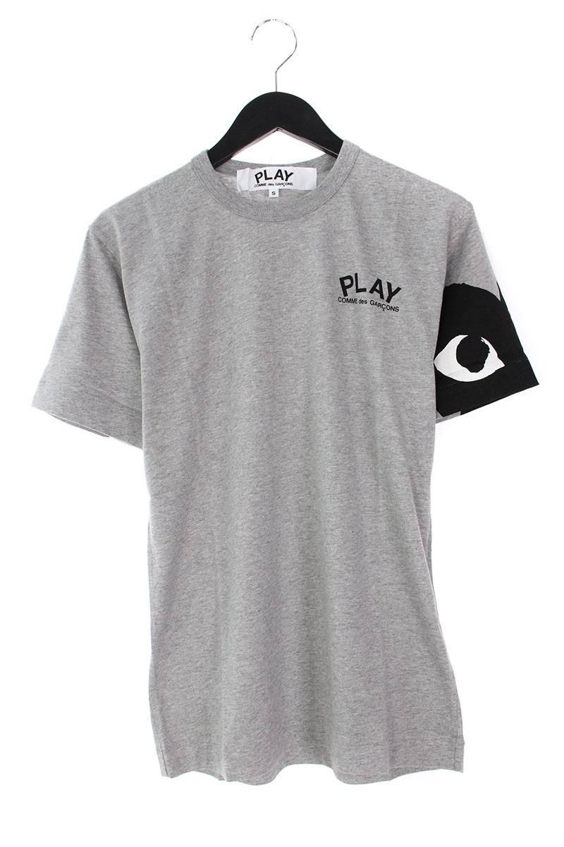プレイコムデギャルソン/PLAY COMME des GARCONS 【AZ-T074】AD2008アームハートプリントTシャツ(S/グレー×ブラック)【SB01】【メンズ】【106081】【中古】bb202#rinkan*S